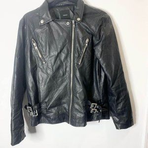 Forever 21 faux leather black jacket Small